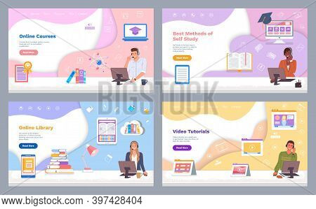 Landing Page Of Websites. Online Courses. Best Methods Of Self Study. Online Library. Video Tutorial