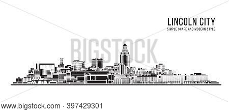 Cityscape Building Abstract Simple Shape And Modern Style Art Vector Design -  Lincoln City