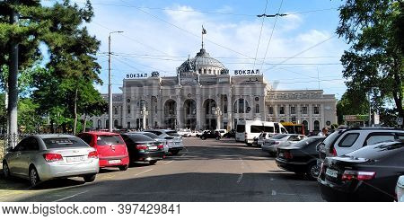 Odessa, Ukraine - June 11, 2019: This Is The Building Of The Main Train Station, Built In The Neocla