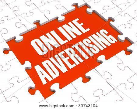 Online Marketing Puzzle Showing Websites' Advertisements
