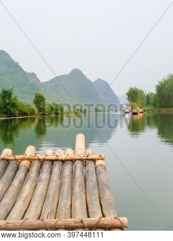Enjoying A Small Boat Tour On The Li Rover Near Yangshuo, China