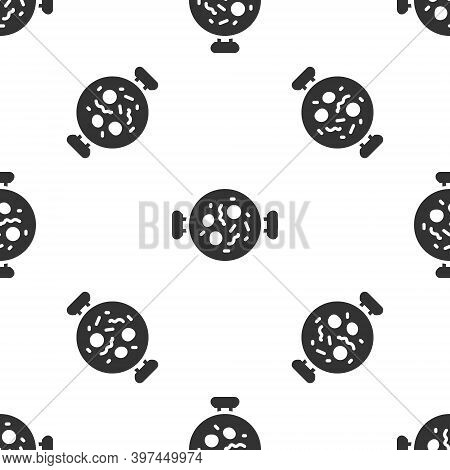 Grey Chicken Tikka Masala Icon Isolated Seamless Pattern On White Background. Indian Traditional Foo