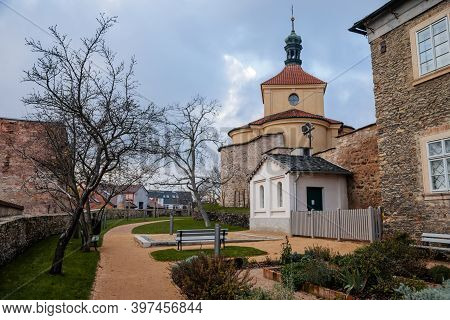 Green Outer Bailey Park, Rose And Herb Garden Near Regional Dvorak´s Museum, Baroque Building Of Oss