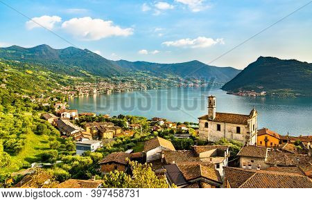 Church Of Saints Rocco And Nepomuceno In Marone At Lake Iseo In Nothern Italy