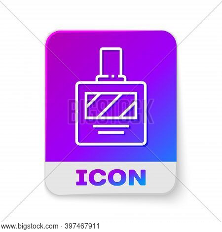 White Line Aftershave Icon Isolated On White Background. Cologne Spray Icon. Male Perfume Bottle. Re