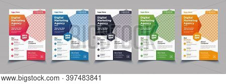 Corporate Business Flyer Template Vector Design, Flyer Template Geometric Shape Used For Business Po