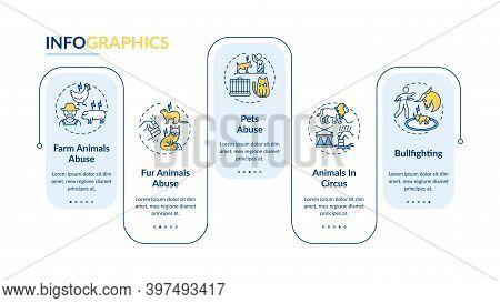 Animal Cruelty Vector Infographic Template. Wildlife Protection. Pets Welfare Presentation Design El