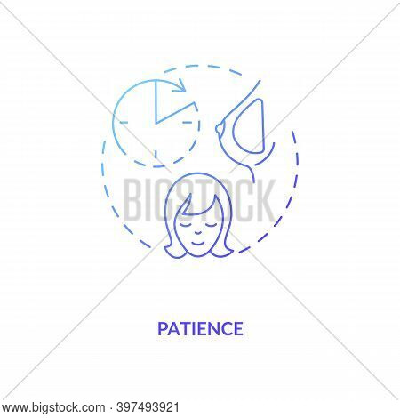 Patience Concept Icon. Breastfeeding Tips. Motherhood Tips For Everyone. Giving Best For Your Childr