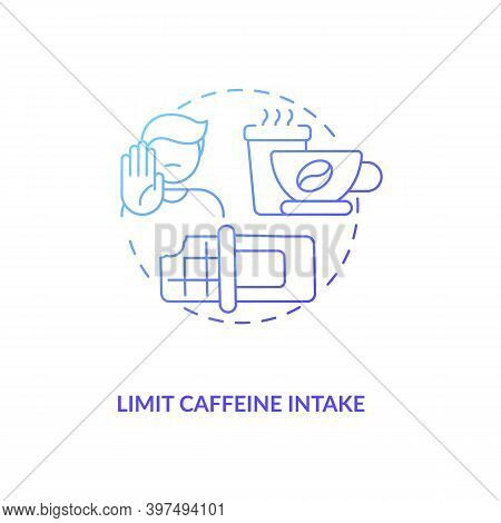Limit Caffeine Intake Concept Icon. Healthy Breastfeeding Diet. Reduce Intake Of Coffee Drinks And G