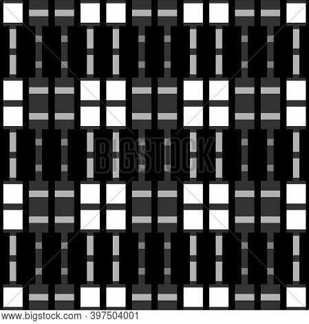 Seamless Pattern. Figures, Blocks Illustration. Rectangles, Shapes Ornament. Tiles, Forms Wallpaper.