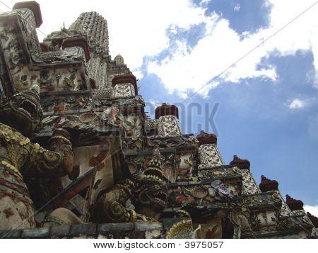 Yaksha At The Base Of Central Prang At Wat Arunratchawararam