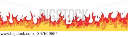 Cartoon Fire. Flame Fires Isolated Vector. Vector Fire. Fire Flames. Fire Sign. Flame Elements On A