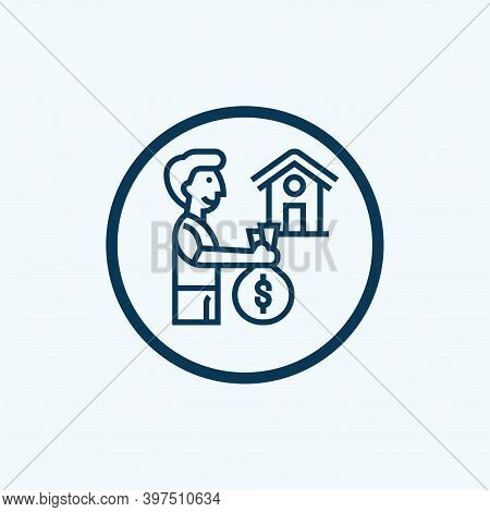 Loan Icon Isolated On White Background From Accounting Collection. Loan Icon Trendy And Modern Loan