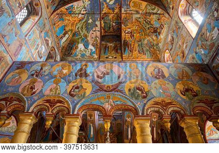 Rostov Veliky, Russia - May 12, 2019: Church Of The Savior On The Seny In The Rostov Kremlin. The Wa