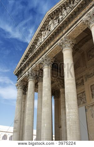Pantheon in Paris against the blue sky poster