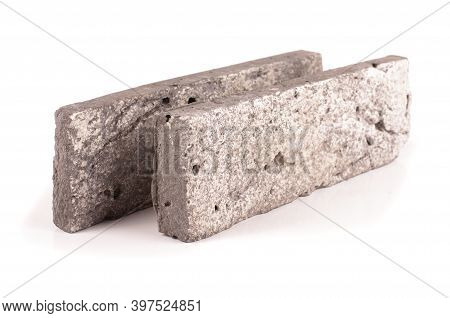 Clinker Brick For House Facade Decor Isolated On The White Background