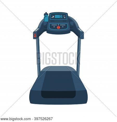 Running Simulator. Treadmill. Gym Tool. Time To Run. Treadmill Machine Icon. Vector Illustration Fla