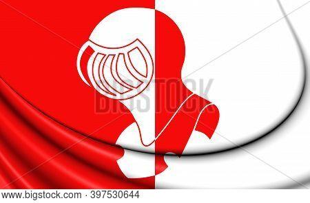 3d Flag Of Helmond (noord Brabant), Netherlands. 3d Illustration.
