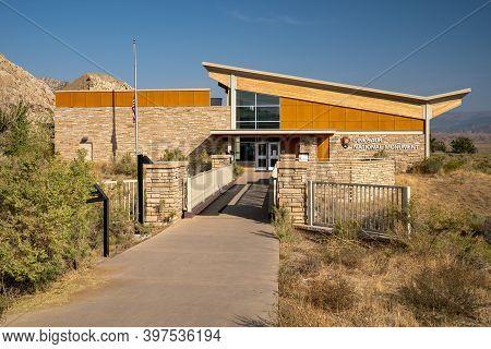 Vernal, Utah - September 20, 2020: The Dinosaur National Monument Visitor Center And Gift Shop