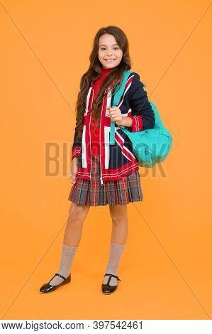Travel And Study. Learn English Language. Girl School Uniform. English Student. Education And Upbrin