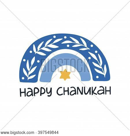 Hanukkah Vector Celebration Typography. Traditional Jewish Holiday. Happy Hanukkah Quote. Chanukah W