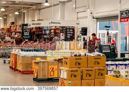 Sydney, Australia - 2020-01-15 Customers At Bunnings Warehouse. Bunnings Is A Largest Household Hard