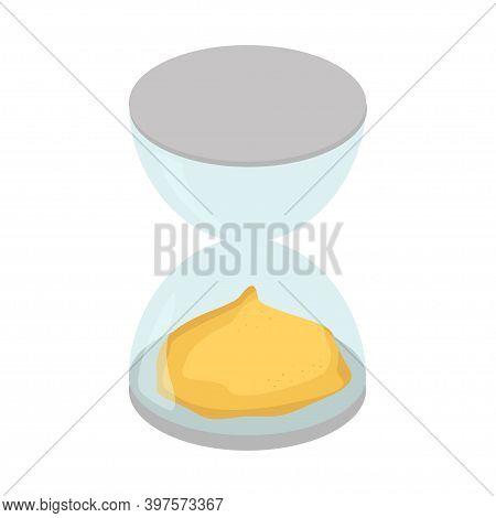 Sand Clock. Hourglass Icon. Sandglass Vector Illustration Design
