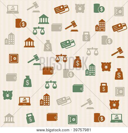 Finance seamless pattern