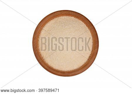 Semolina Isolated On White Background, Top View