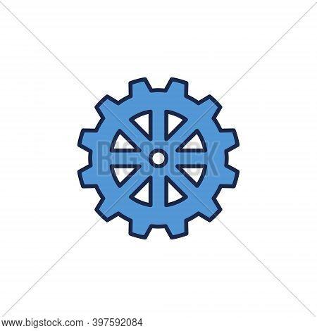 Vector Cog Wheel Concept Blue Modern Icon Or Logo Element