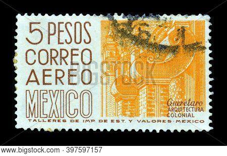 Mexico - Circa 1951: Cancelled Postage Stamp Printed By Mexico, That Shows Santiago De Queretaro - C
