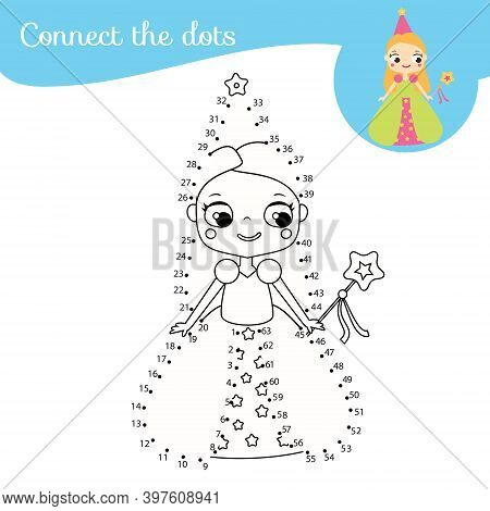 Connect The Dots. Dot To Dot By Numbers Activity For Kids And Toddlers. Children Educational Game. C