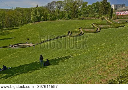 Ukraine, Uman City 04/29/2018. Sofiyivka National Dendrological Park Is An Arboretum, A Research Ins