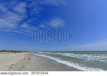 The Azov Sea Is A Semi-enclosed Sea Of The Atlantic Ocean In Eastern Europe, Washing The Coast Of Uk