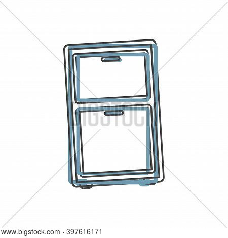 Vector Icon Furniture Dresser On Cartoon Style On White Isolated Background.