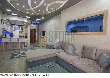 Living Room Lounge Area In Luxury Apartment Show Home Showing Interior Design Decor Furnishing And O
