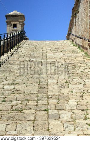 Acre, Israel - May 12, 2011: This Is A Ramp To The Old City Walls.