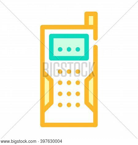 Laser Rangefinder Device Color Icon Vector Illustration