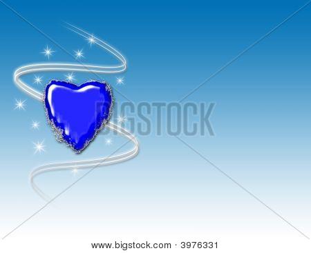 Winter Heart Background