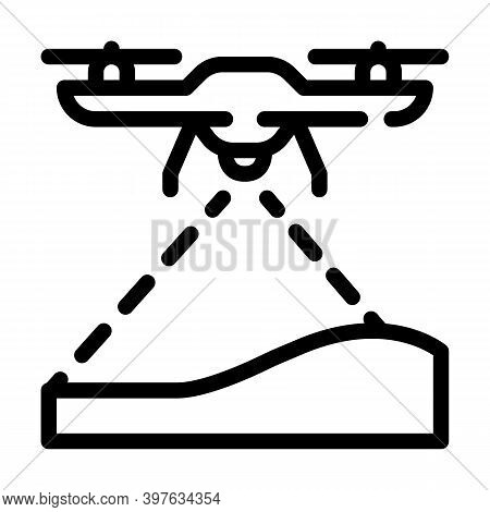 Drone Crawling Ground Line Icon Vector Illustration