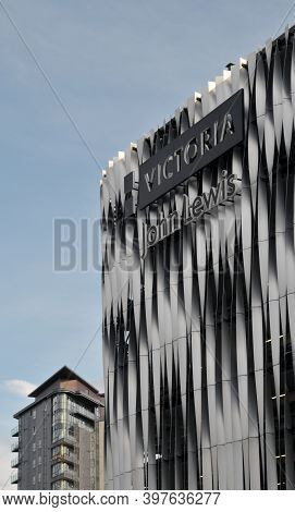 Leeds, West Yorkshire, England: 3 September 2020: The Facade Of The Victoria Quarter Shopping Center