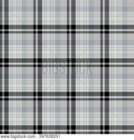 Seamless Pattern In Creative Black And Gray Colors For Plaid, Fabric, Textile, Clothes, Tablecloth A