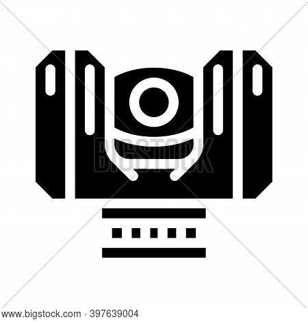 Laser Scanner Device Glyph Icon Vector Illustration