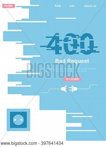 400 System Error. Bad Or Invalid Request. Website Template. Disconnected,cut,torned Wires From The O