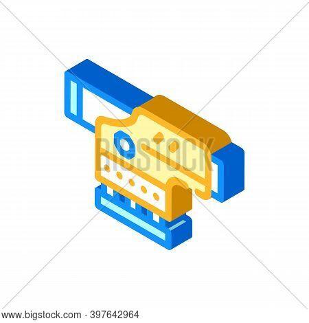 Optical Level Gadget Isometric Icon Vector Illustration