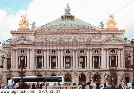 France, Paris - June 17, 2011: Facade Of The Opera Or Palace Garnier. Paris