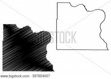 Dakota County, Nebraska (u.s. County, United States Of America, Usa, U.s., Us) Map Vector Illustrati