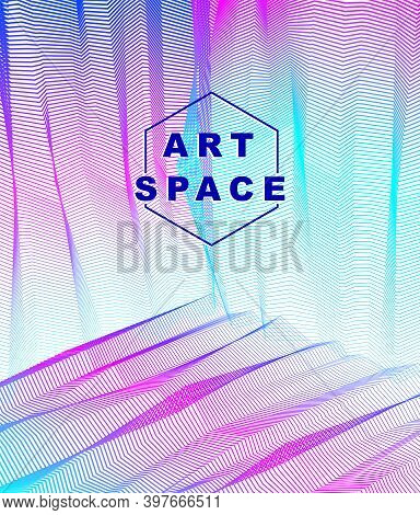 Abstract Art Vector Background For Modern Trendy Great Design, Line Art Surface Textures, 3D Dimensi
