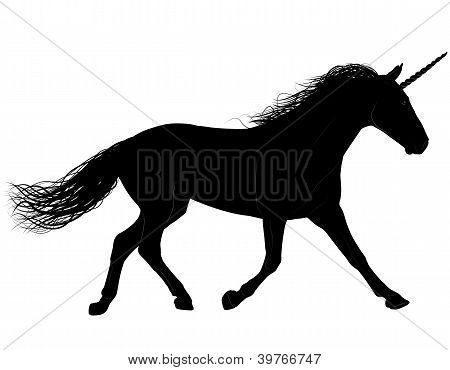 Unicorn or horse vector silhouette. Layered. Fully editable