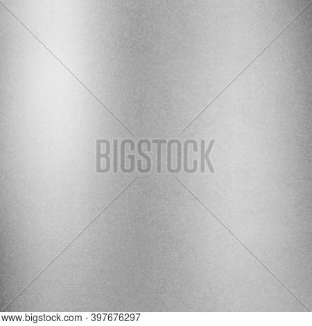Silver Or Zinc Metal Background. Textured Zinc, Steel, Chrome Or Silver Background. Realistic Metal.
